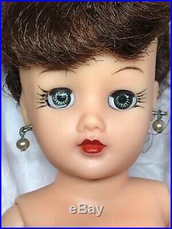 10 Vintage Ideal Little Miss Revlon Adorable Brunette Upsweep Bob With Box #Me