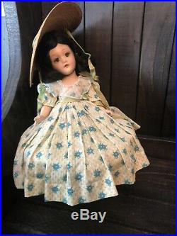 12 No Crazing Clear Eyes 1937 Madame Alexander Compo Scarletts OHara Doll