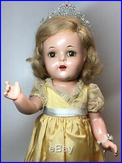 14.5 Antique Madame Alexander Princess Elizabeth Crown Compo All Original #Me
