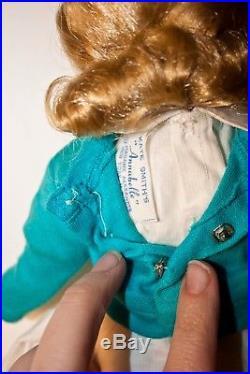 14 MIB Vintage Madame Alexander Kate Smith's Annabelle withwrist tag