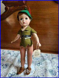 14 Madame Alexander Vintage 1950's Walt Disney Peter Pan Doll very rare