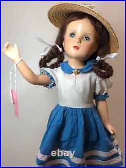 17 Antique Vintage Madame Alexander Margaret OBrien Brunette Braids Compo #Me
