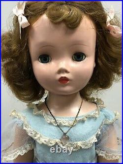 18 Vintage Antique Madame Alexander Binnie Brunette Walker Original Dress #S