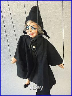 1930's MADAME ALEXANDER Snow White & Seven Dwarfs Hag marionette