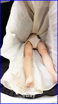 1950'S Madame Alexander CISSY 20 Doll Black Velvet Gown & Stole Wrap