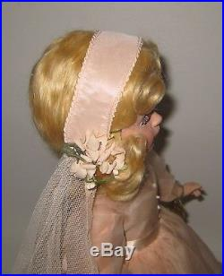 1950's Madame Alexander Bride in Pink Wedding Dress 21 Doll Museum Quality RARE