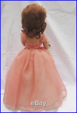 1950's Madame Alexander Margaret Bridesmaid Peach 18 Doll Museum Quality RARE