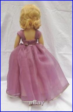 1950's Madame Alexander Margaret Bridesmaid Purple 18 Doll Museum Quality RARE