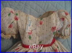 1950s CISSY TAGGED DIMITY DAY DRESS