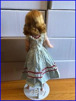 1950s madame Alexander Cissy doll in rare blue flower dress