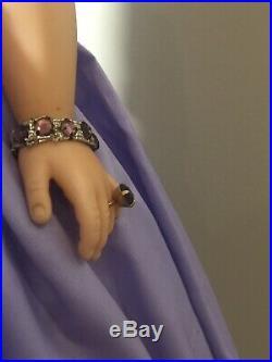 1954-1962 Stunning Brunette Vintage Madame Alexander Cissy Lilac Afternoon Gown