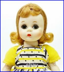 1954 Madame Alexander Kins Straight Leg Walker Wendy Loves School Dresses 8 SLW