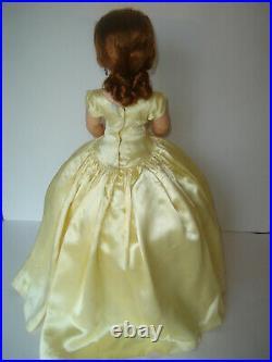 1955 Cissy #2094 Yellow Slipper Satin With Topaz Jewelry