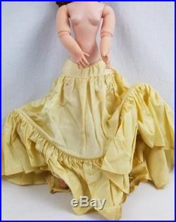 1955 Madame Alexander 20 Tall Cissy In Champagne Satin Dress, All Original