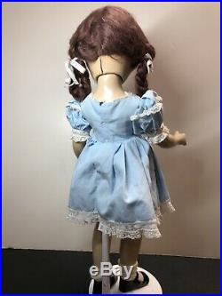 21 Antique Vintage Madame Alexander Margaret OBrien Brunette Original Dress #F