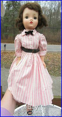 21 Vintage 1950s Madame Alexander Cissy Doll With TAGGED PINK WHITE DRESS