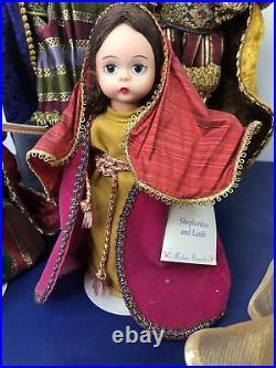 8 Madame Alexander Doll Christmas Madonna & Child 3 Wise Men Shepard Lot Of 6
