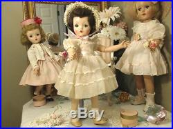 ACTIVE MISS CISSY Madame Alexander 18 1954 RARE DOLL! BRUNETTE! TAGGED ORGANDY
