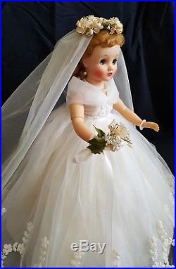 BEAUTIFUL Vintage 1950's Madame Alexander Elise BRIDE Doll ALL ORIGINAL