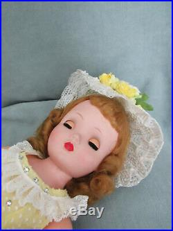 Beautiful Breath Of Spring Blonde Cissy In Yellow Dotted Swiss