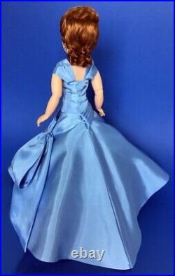 Beautiful Replica Cissy Doll Blue Rhinestone Side Drape Gown (no doll)