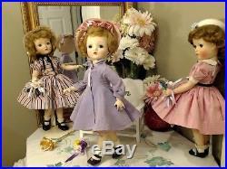CISSY SWEET VIOLET Madame Alexander 18 1954 ORIG PURPLE COATRARE PINK DRESS