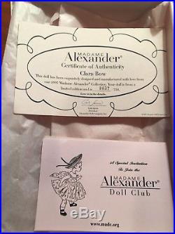 CLARA BOW New MADAME ALEXANDER 10 Cissette Flapper Doll MINT NIB LE Rare 2007