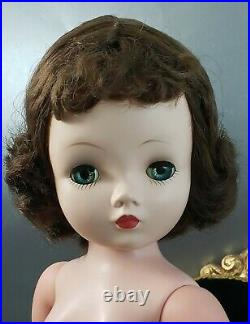 Cissy Doll 1950's Madame Alexander Vintage Brunette Blue Eyes Nude All Original