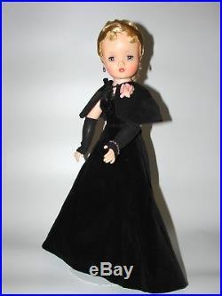 Gorgeous Madame Alexander 1957 Cissy Original Doll Black Velvet A-line Htf