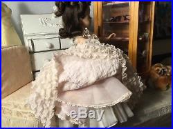 Gorgeous Madame Alexander ELISE 16 1964 BRUNETTE IN PEACHY/PINK BALL GOWN WOW