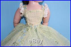 HTF Flocked Nylon Sun Dress Vintage Madame Alexander Cissy Doll 1958 Boxed Extra