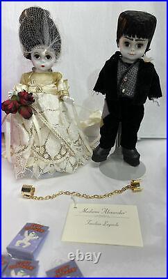 Halloween Set Mr. And Mrs. Frankenstein 8 Madame Alexander dolls in Box Retired