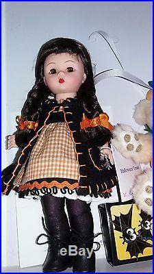 Htf Rare Madame Alexander 8 Halloween Treats Set Doll & Bear Mib