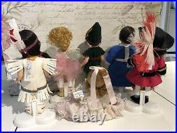Lot 6 Alexander 8 Dolls-Peter Pan, Wendy, Hook, Tinkerbell, Tiger Lily, Michael