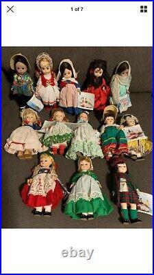 Lot 7 Vintage MADAME ALEXANDER International Dolls Plus Betsy Ross