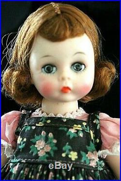 MADAME ALEXANDER 8 Alexander-Kins doll in black with pink outfit/modern hat/ gr
