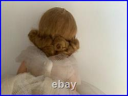 MADAME ALEXANDER CISSETTE ORIGINAL LACE GOWN WITH TAG 1950s