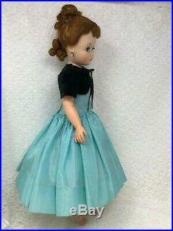 MADAME ALEXANDER CISSY 1956 AQUA COCKTAIL DRESS WithHTF BOLERO NO DOLL