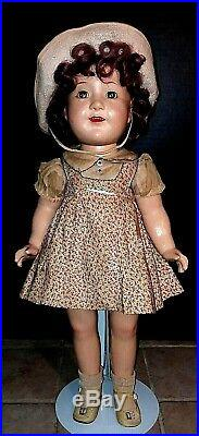 MADAME ALEXANDER JANE WITHERS DOLL COMPO 20 1936 orig Tagged dress name Pin