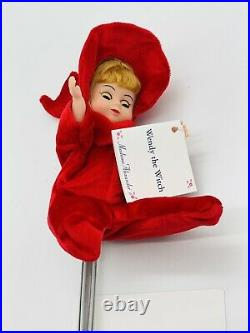 Madame Alexander 8 Wendy the Witch Doll Original Box Broom Tag Stand Restrung