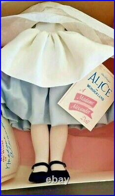 Madame Alexander Alice In Wonderland 14 1/2 No. 79602 Doll with Box (NEW)