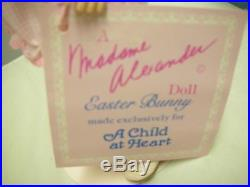 Madame Alexander Child At Heart Easter Bunny Le With Pink Stand