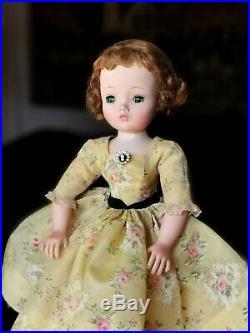 Madame Alexander Cissy Doll 1957 Yellow Afternoon Dress