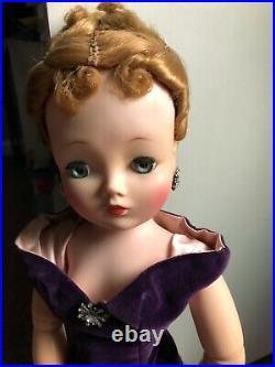 Madame Alexander Cissy Doll Original Purple Gown Rare