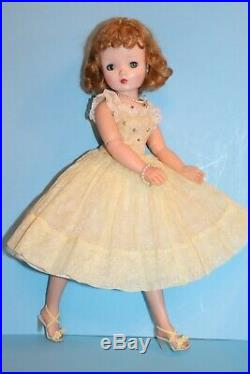 Madame Alexander Cissy Doll Tagged VHTF Yellow Organdy Minty