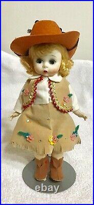 Madame Alexander Cow Girl Doll 8 Tall Bent Knees
