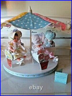 Madame Alexander FOUR OF THE 5 Dionne Quintuplets and Carousel #12230 box & lid