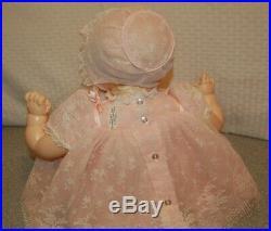Madame Alexander Kitten 2002 18 Tagged Dress, Bonnet, Shoes New Crier