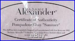 Madame Alexander Pompadour Cissy Summer LE 101/200 with COA NRFB