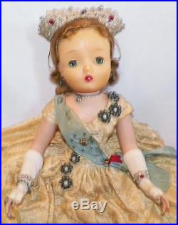 Madame Alexander Queen Elizabeth Doll 18in. Hard Plastic 1953 Original Rare